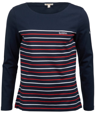 Women's Barbour Tellin Top - Navy / White