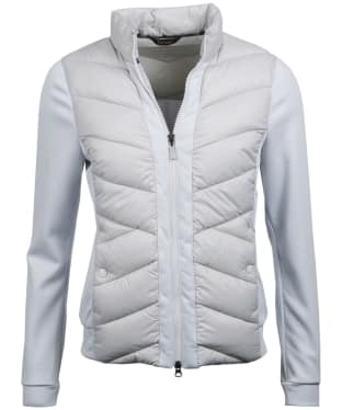 Women's Barbour Hirsel Sweater Jacket - Ice White