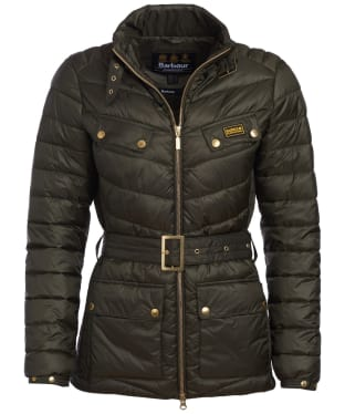 Women's Barbour International Gleann Quilt - Moto Green