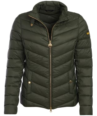 Women's Barbour International Aubern Quilted Jacket - Moto Green