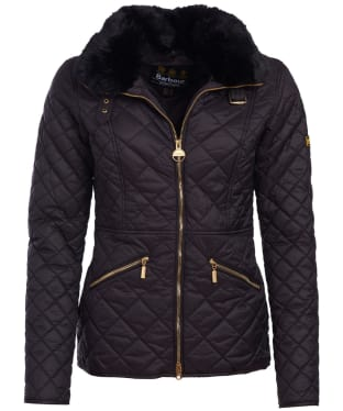 Women's Barbour International Corner Quilted Jacket - Black