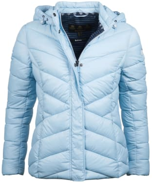 Women's Barbour Seaward Quilted Jacket - Powder Blue