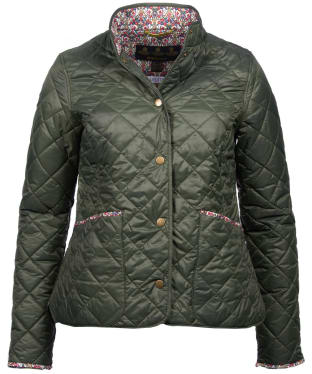 Women's Barbour Liberty Evelyn Quilted Jacket - Olive