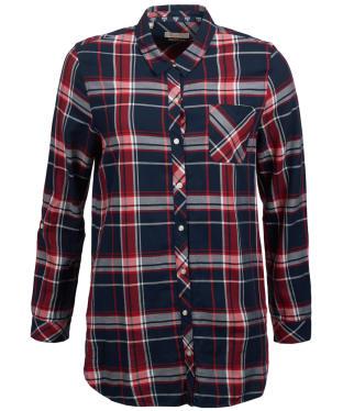 Women's Barbour Fairway Shirt - Navy / Red