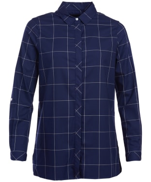 Women's Barbour Maree Shirt - Navy / White