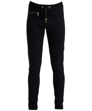 Women's Barbour International Track Trousers - Black / Gold