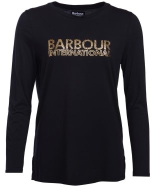 Women's Barbour International Sideline Tee - Black