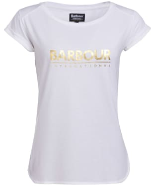Women's Barbour International Court Tee - White