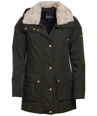 Women's Barbour International Garrison Waterproof Jacket - Moto Green