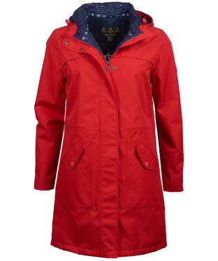 Women's Barbour Seafield Waterproof Jacket - Coastal Red