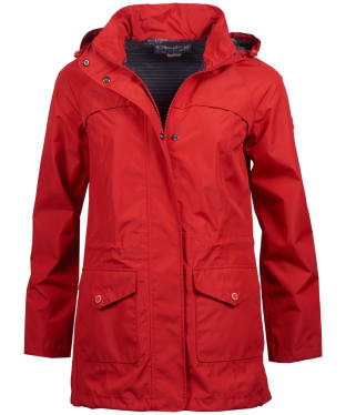Women's Barbour Dalgetty Waterproof Jacket - Coastal Red
