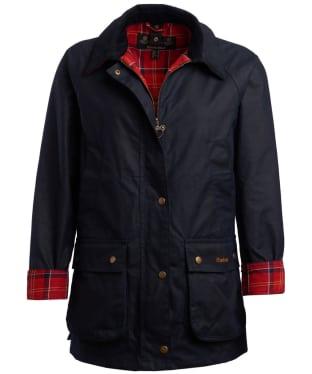 Women's Barbour Partner Exclusive Acorn Wax Jacket - Royal Navy