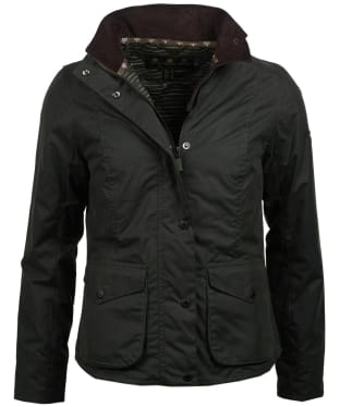 Women's Barbour Newquay Waxed Jacket - Sage