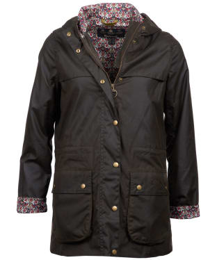 Women's Barbour Liberty Lillian Waxed Jacket - Olive