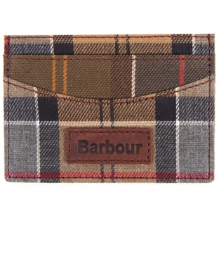 Men's Barbour Mixed Tartan Card Holder - Mixed Tartan