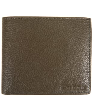 Men's Barbour Milled Leather Billfold Wallet - Olive