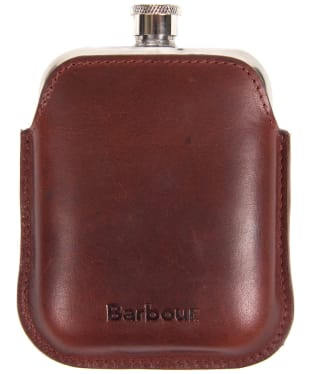 Men's Barbour Leather Hipflask