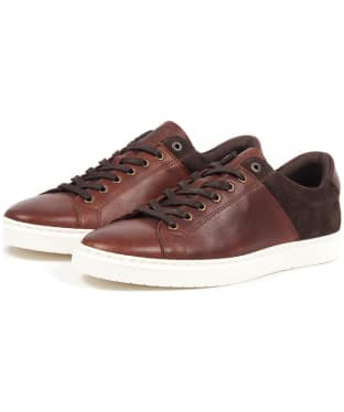 Men's Barbour Ariel Trainers - Dark Brown