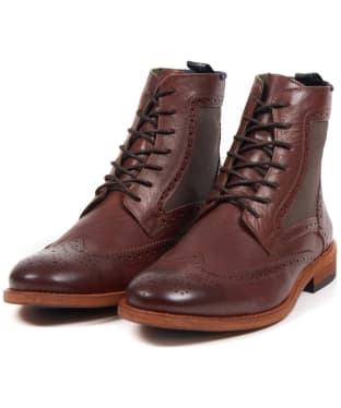 Men's Barbour Belford Brogue Boots - Chocolate