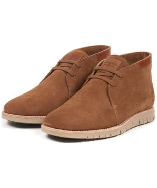 Men's Barbour Boughton Chukka Boot - Cola Suede