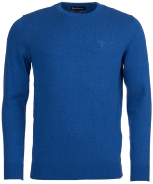 Men's Barbour Pima Cotton Crew Neck Sweater - True Blue