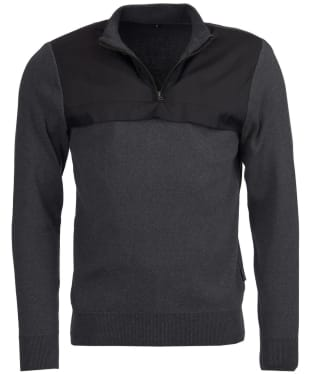 Men's Barbour Seabert Half Zip Sweater - Charcoal