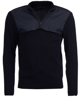 Men's Barbour Seabert Half Zip Sweater - Navy