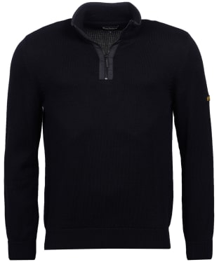 Men's Barbour International Trap Half Zip Knitted Sweater - Black