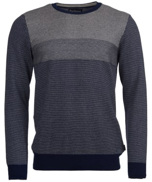 Men's Barbour Edmar Crew Neck Knitted Sweater - Navy