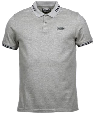 Men's Barbour International Essential Tipped Polo Shirt - Grey Marl