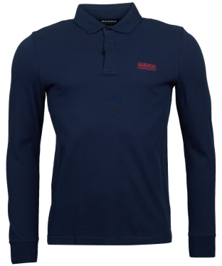 Men's Barbour International Antrim Long Sleeve Polo Shirt - Navy