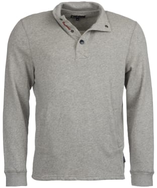 Men's Barbour Albacore Half Snap Sweatshirt - Grey Marl