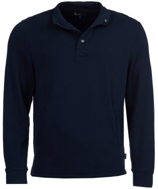 Men's Barbour Albacore Half Snap Sweatshirt - Navy