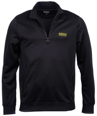 Men's Barbour International Half Zip Track Top - Black
