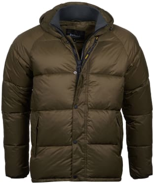 Men's Barbour International Busa Down Quilted Jacket - Olive