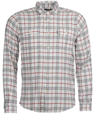 Men's Barbour Albion Shirt - Grey Marl