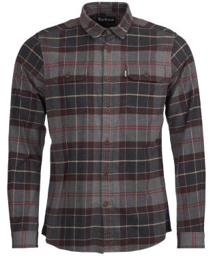Men's Barbour Salton Shirt - Grey Marl