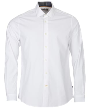 Men's Barbour Highfield Stretch Poplin Shirt - White