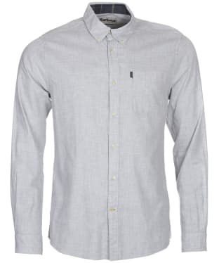 Men's Barbour Endsleigh Twill Plain Shirt - Ecru Marl