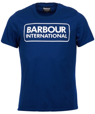 Men's Barbour International Essential Large Logo Tee - Inky Blue