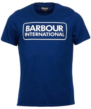Men's Barbour International Essential Large Logo Tee - Inky Blue