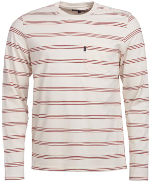 Men's Barbour Manta Long Sleeve Tee - Ecru