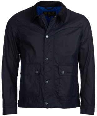 Men's Barbour Kelvin Wax Jacket - Royal Navy