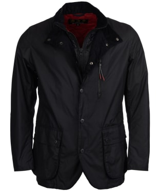 Men's Barbour Surge Waxed Jacket - Black
