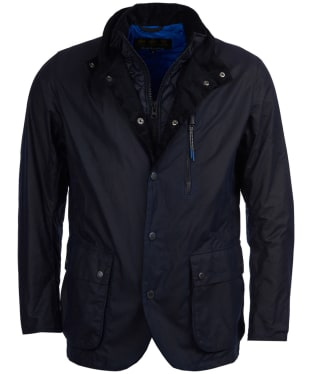 Men's Barbour Surge Waxed Jacket - Royal Navy