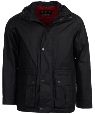 Men's Barbour Ridge Wax Jacket - Black