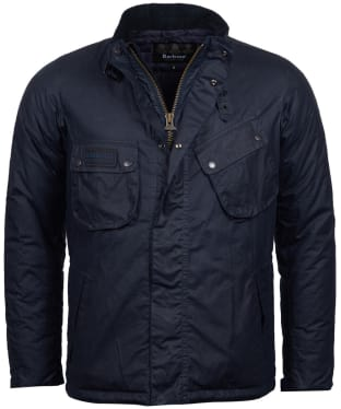 Men's Barbour International Lever Wax Jacket - Royal Navy