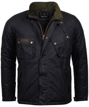 Men's Barbour International Lever Wax Jacket - Sage