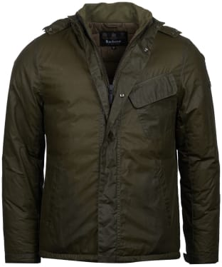 Men's Barbour International Triple Wax Jacket - Archive Olive