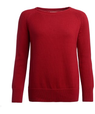 Women's Barbour Portsdown Crew Neck Sweater - Chilli Red